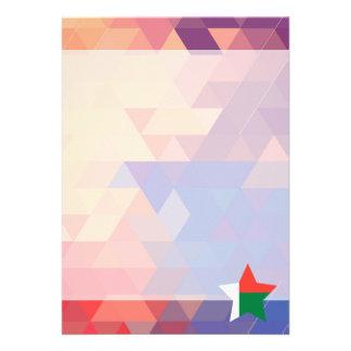 Elegant Madagascar flag heart 13 Cm X 18 Cm Invitation Card