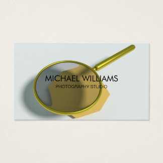 Elegant Magnifying glass Investigating Detective Business Card