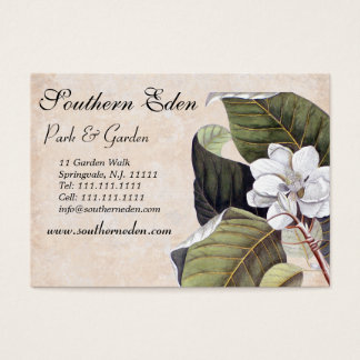 Elegant Magnolia Collage Vintage Garden Business Card