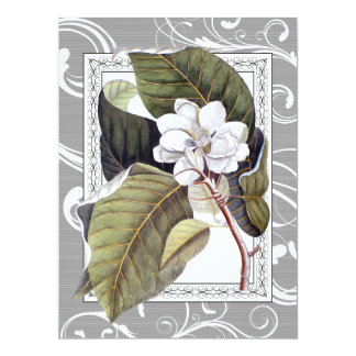 Elegant Magnolia Southern Belle Wedding Card