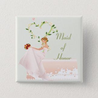 Elegant Maid of Honor Button