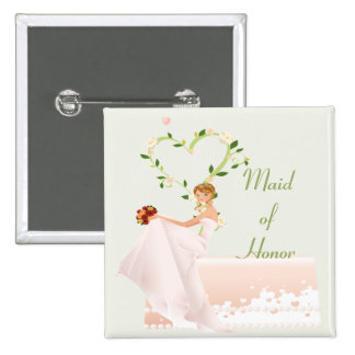 Elegant Maid of Honor Button