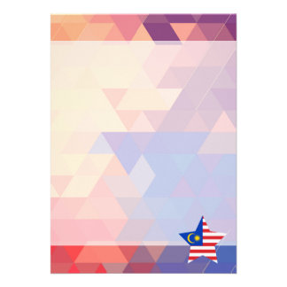 Elegant Malaysia flag heart 13 Cm X 18 Cm Invitation Card
