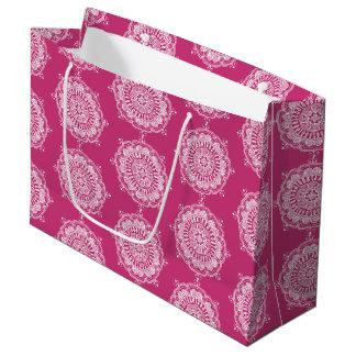 Elegant Mandala Art Large Favour Bag