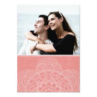 Elegant Mandala Boho Chic Save the Date Card