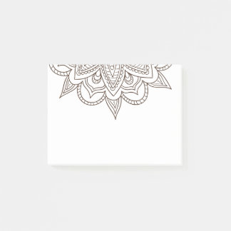 Elegant Mandala Flower Design Post-it Notes