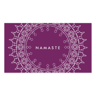Elegant Mandala Namaste Yoga Purple Business Card