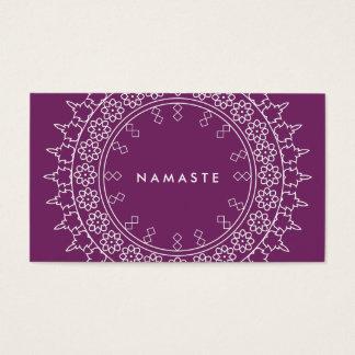Elegant Mandala Namaste Yoga Purple Business Card