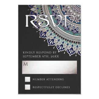 Elegant Mandala Wedding RSVP Cards