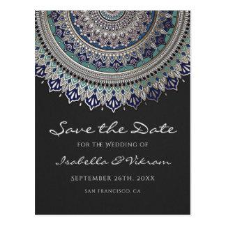 Elegant Mandala Wedding Save the Date Postcards
