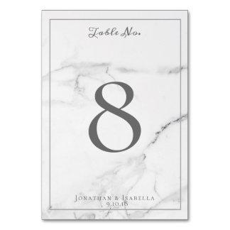 Elegant Marble and Wreath Wedding Table Numbers