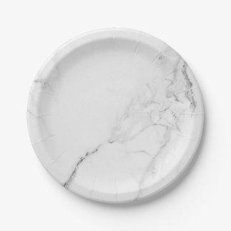 Elegant Marble and Wreath Wedding Tableware Paper Plate
