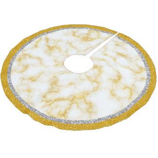 Elegant Marble - Gold White Brushed Polyester Tree Skirt
