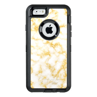 Elegant Marble - Gold White OtterBox Defender iPhone Case