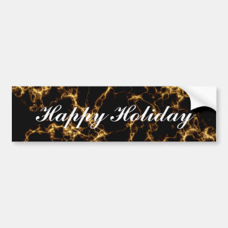 Elegant Marble style3 - Black Gold Bumper Sticker