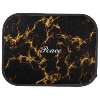 Elegant Marble style3 - Black Gold Car Mat