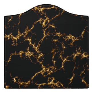Elegant Marble style3 - Black Gold Door Sign