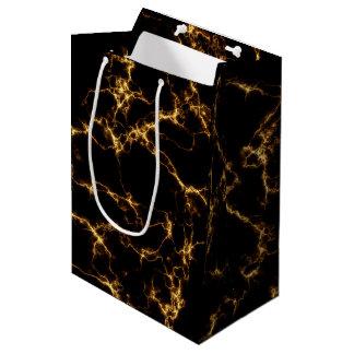 Elegant Marble style3 - Black Gold Medium Gift Bag