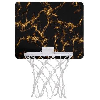 Elegant Marble style3 - Black Gold Mini Basketball Hoop