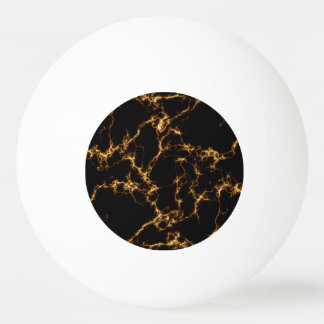 Elegant Marble style3 - Black Gold Ping Pong Ball