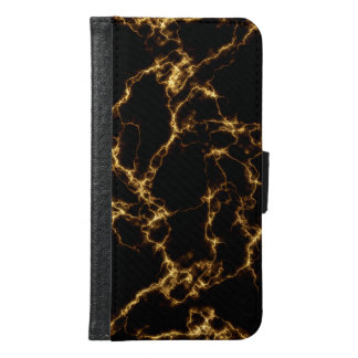 Elegant Marble style3 - Black Gold Samsung Galaxy S6 Wallet Case