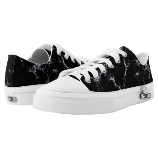 Elegant Marble style4 - Black and White Low Tops
