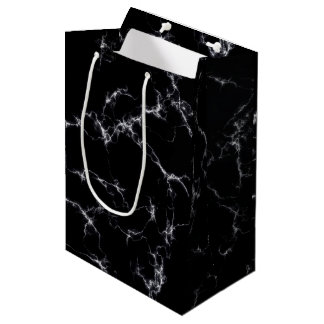 Elegant Marble style4 - Black and White Medium Gift Bag