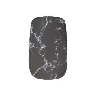 Elegant Marble style4 - Black and White Minx Nail Art