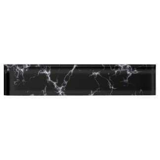 Elegant Marble style4 - Black and White Nameplate