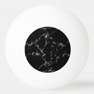 Elegant Marble style4 - Black and White Ping Pong Ball