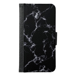 Elegant Marble style4 - Black and White Samsung Galaxy S6 Wallet Case