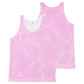 Elegant Marble style5 - Cherry Blossoms Pink All-Over Print Singlet