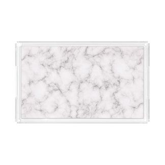 Elegant Marble style Acrylic Tray