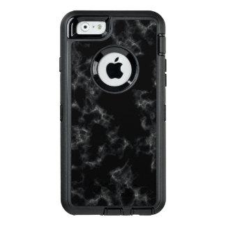 Elegant Marble style - black OtterBox Defender iPhone Case