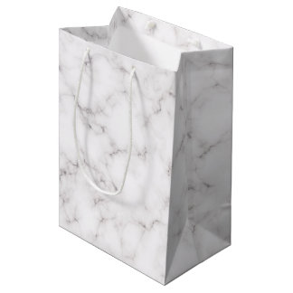 Elegant Marble style Medium Gift Bag