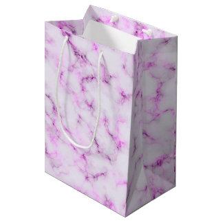 Elegant Marble style - purple pink Medium Gift Bag