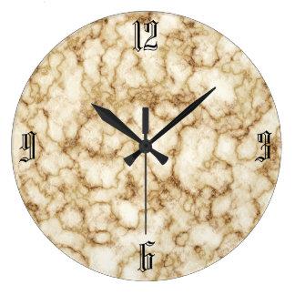 Elegant Marble Texture Large Clock