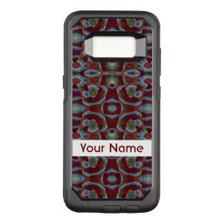 Elegant Maroon Red Blue Mosaic Pattern OtterBox Commuter Samsung Galaxy S8 Case