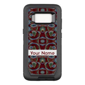 Elegant Maroon Red Blue Mosaic Pattern OtterBox Defender Samsung Galaxy S8 Case