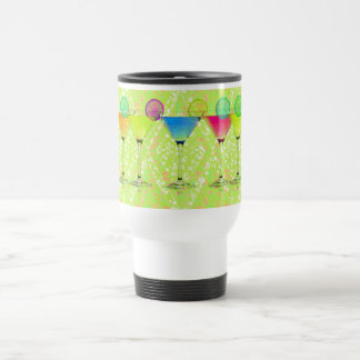Elegant-Martini-Lime_Harlequin-Floral_Colorful Travel Mug