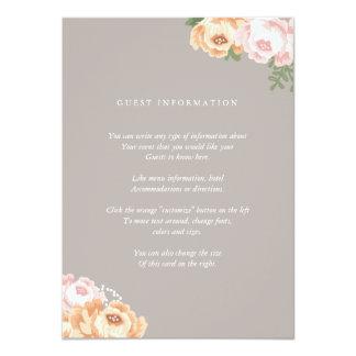 Elegant Mason Jar Insert Card 11 Cm X 16 Cm Invitation Card