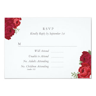 Elegant Mason Jar RSVP Card - Red