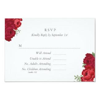 Elegant Mason Jar RSVP Card - Red 9 Cm X 13 Cm Invitation Card