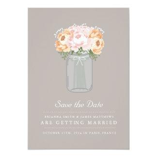 Elegant Mason Jar Save the Date 13 Cm X 18 Cm Invitation Card