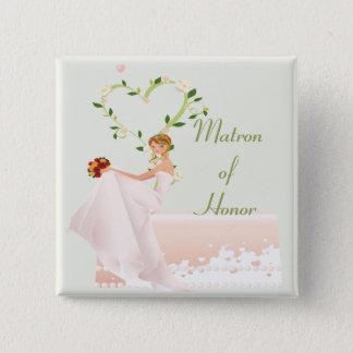 Elegant Matron of Honor Button