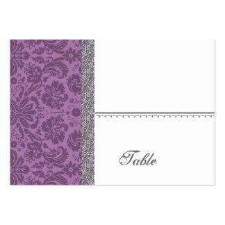 Elegant Mauve Damask Wedding Business Card Template