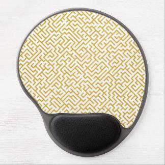 Elegant Maze Modern Art - Gold & White Gel Mouse Pad