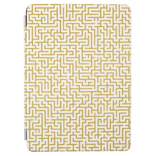 Elegant Maze Modern Art - Gold & White iPad Air Cover