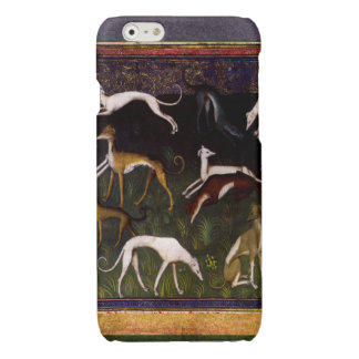 Elegant Medieval Greyhounds in the Deep Forest