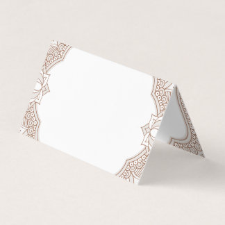 Elegant Mehndi Wedding Place Card